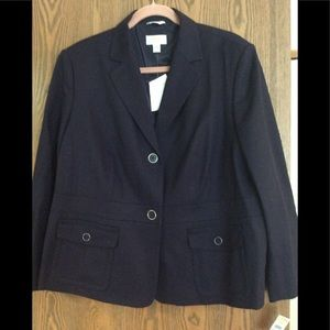 Talbots Purple Suit Jacket 18WP NWT